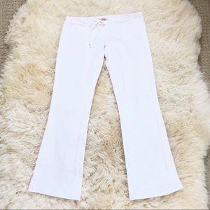 NWOT White Stretch Yoga Pants Size Small